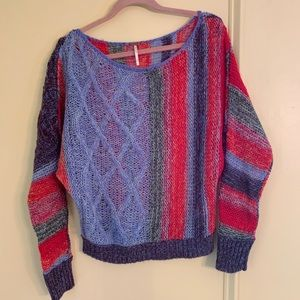 Colorful Free People Sweater